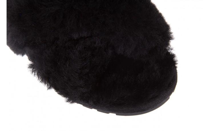 Klapki emu mayberry black, czarny, futro naturalne - kobieta 6
