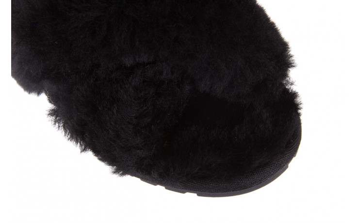 Klapki emu mayberry black 21 119127, czarny, futro naturalne  - klapki - buty damskie - kobieta 6