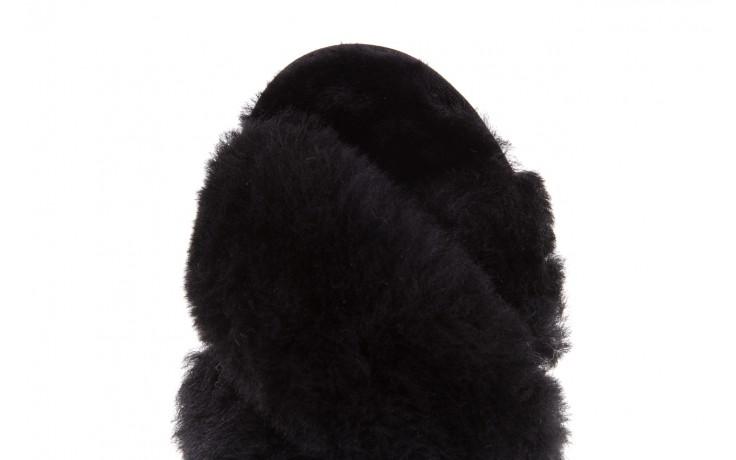Klapki emu mayberry black, czarny, futro naturalne - kobieta 7