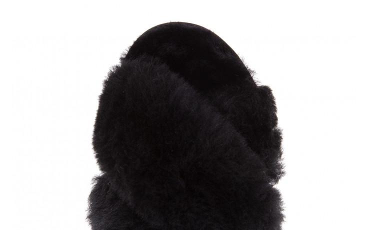 Klapki emu mayberry black 21 119127, czarny, futro naturalne  - klapki - buty damskie - kobieta 7