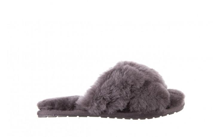 Kapcie emu mayberry charcoal 21 119128, szary, futro naturalne  - nowości