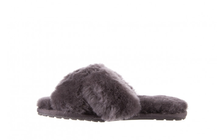 Kapcie emu mayberry charcoal 21 119128, szary, futro naturalne  - nowości 3