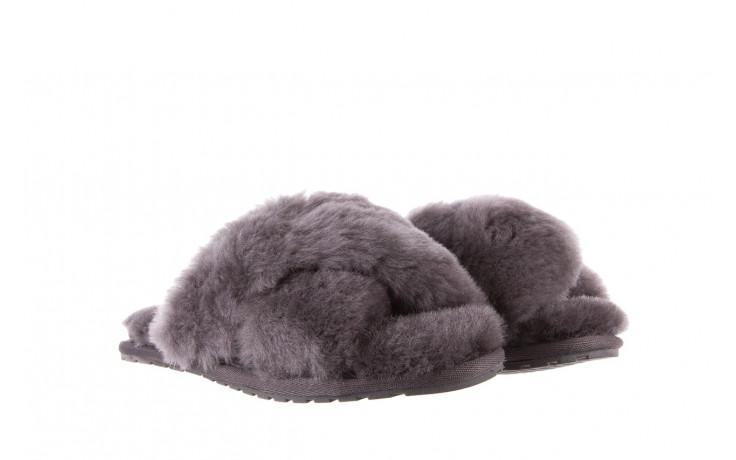 Kapcie emu mayberry charcoal 21 119128, szary, futro naturalne  - nowości 1