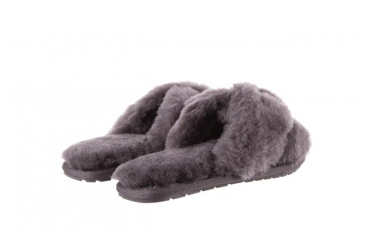 Kapcie emu mayberry charcoal 21 119128, szary, futro naturalne  - nowości 4