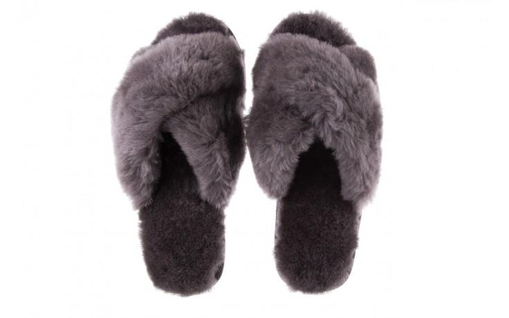 Klapki emu mayberry charcoal, szary, futro naturalne - emu - nasze marki 5