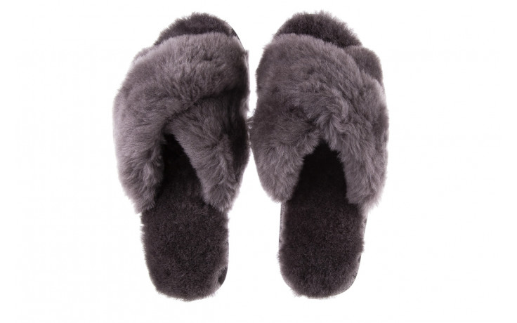 Kapcie emu mayberry charcoal 21 119128, szary, futro naturalne  - nowości 5