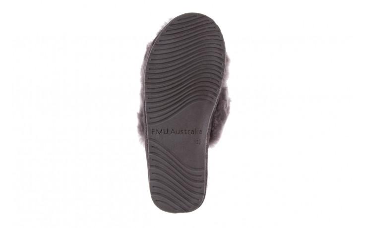 Kapcie emu mayberry charcoal 21 119128, szary, futro naturalne  - nowości 7