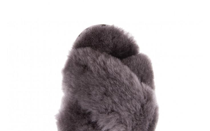 Kapcie emu mayberry charcoal 21 119128, szary, futro naturalne  - nowości 6
