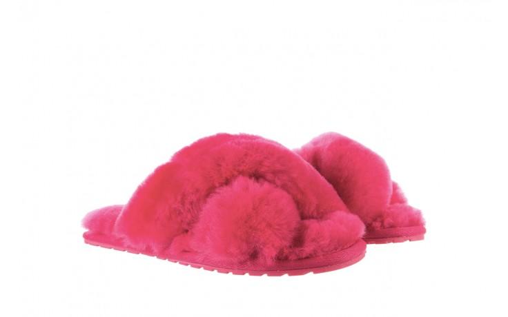 Klapki emu mayberry fuschia, róż, futro naturalne - emu - nasze marki 1