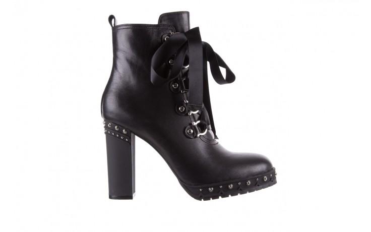 Botki bayla-144 9308 czarne botki 144020, skóra naturalna - worker boots - trendy - kobieta