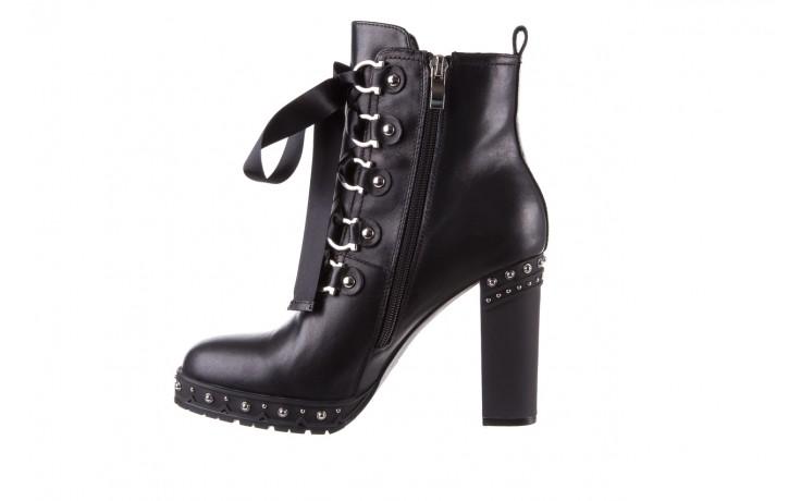 Botki bayla-144 9308 czarne botki 144020, skóra naturalna - worker boots - trendy - kobieta 2