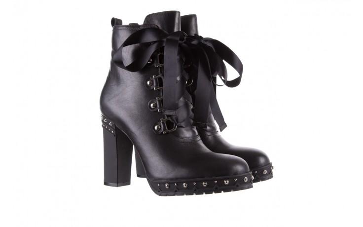 Botki bayla-144 9308 czarne botki 144020, skóra naturalna - worker boots - trendy - kobieta 1