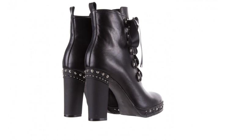 Botki bayla-144 9308 czarne botki 144020, skóra naturalna - skórzane - botki - buty damskie - kobieta 4
