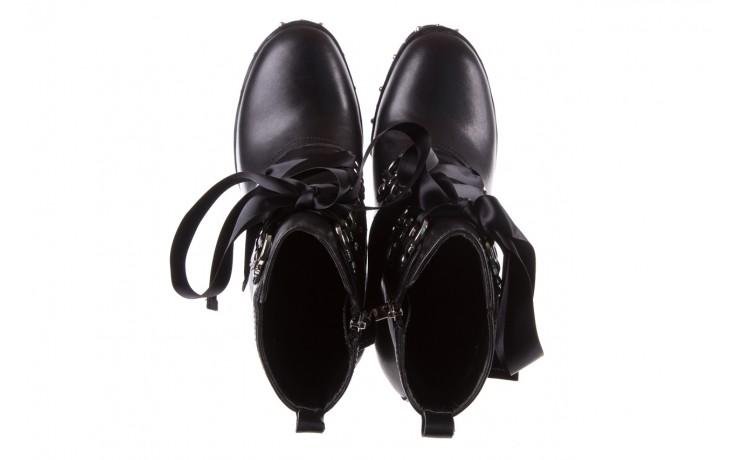 Botki bayla-144 9308 czarne botki 144020, skóra naturalna - worker boots - trendy - kobieta 5