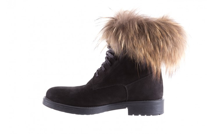 Trzewiki bayla-164 top 17 black 164005, czarny, skóra naturalna  - worker boots - trendy - kobieta 2