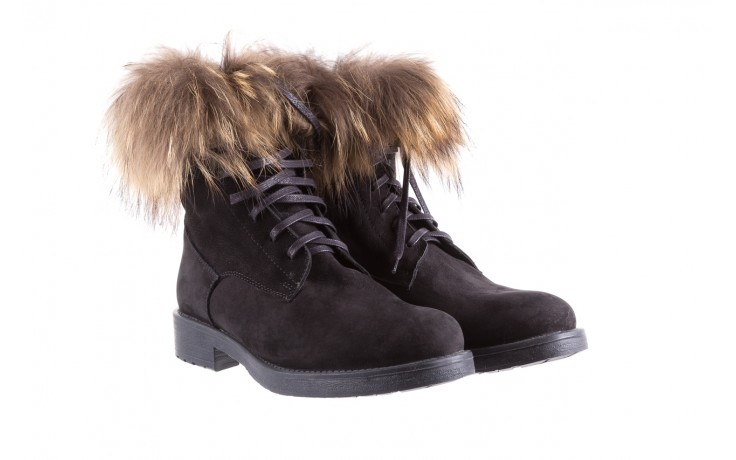 Trzewiki bayla-164 top 17 black 164005, czarny, skóra naturalna  - worker boots - trendy - kobieta 1