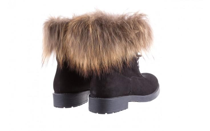 Trzewiki bayla-164 top 17 black 164005, czarny, skóra naturalna  - worker boots - trendy - kobieta 3