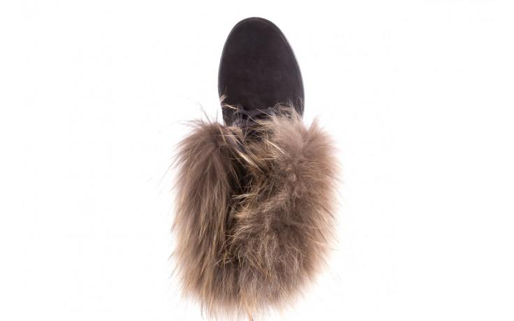 Trzewiki bayla-164 top 17 black 164005, czarny, skóra naturalna  - worker boots - trendy - kobieta 4