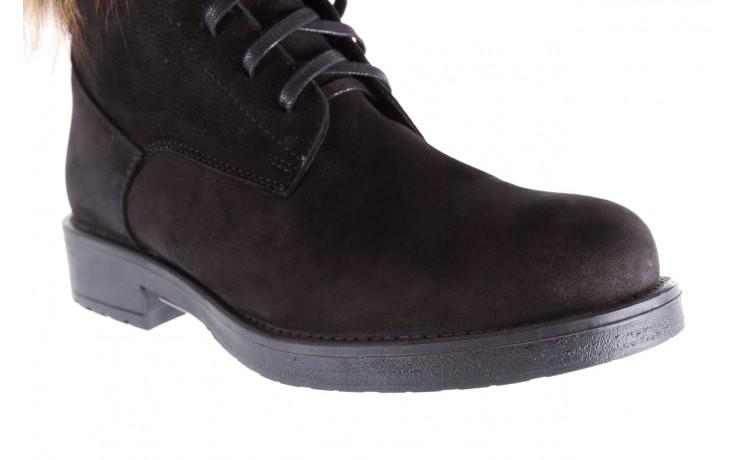 Trzewiki bayla-164 top 17 black 164005, czarny, skóra naturalna  - worker boots - trendy - kobieta 5