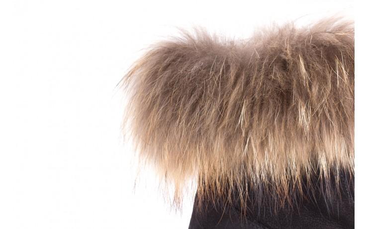 Trzewiki bayla-164 top 17 black 164005, czarny, skóra naturalna  - worker boots - trendy - kobieta 6
