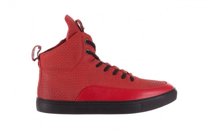 Sneakersy john doubare m7961-3 red, czerwony, skóra naturalna - brooman - nasze marki