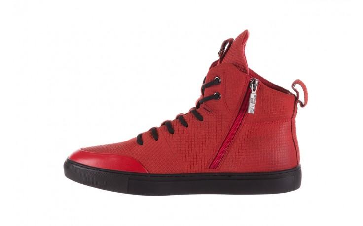 Sneakersy john doubare m7961-3 red, czerwony, skóra naturalna - brooman - nasze marki 2