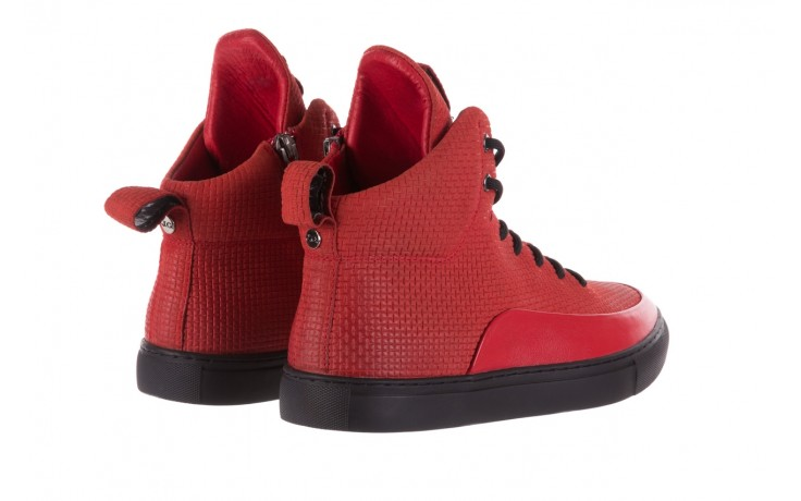 Sneakersy john doubare m7961-3 red, czerwony, skóra naturalna - brooman - nasze marki 3