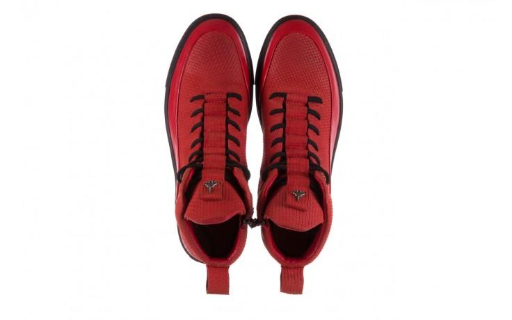 Sneakersy john doubare m7961-3 red, czerwony, skóra naturalna - brooman - nasze marki 4
