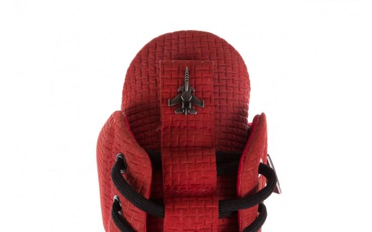 Sneakersy john doubare m7961-3 red, czerwony, skóra naturalna - brooman - nasze marki 6