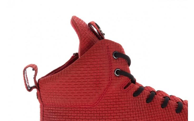 Sneakersy john doubare m7961-3 red, czerwony, skóra naturalna - brooman - nasze marki 7