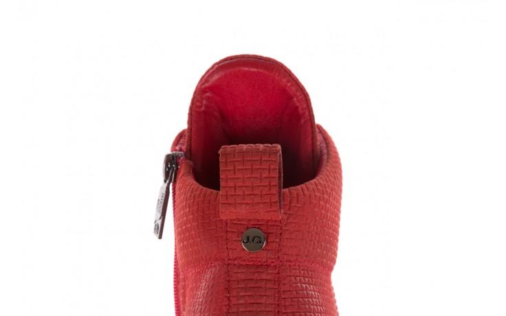 Sneakersy john doubare m7961-3 red, czerwony, skóra naturalna - brooman - nasze marki 8
