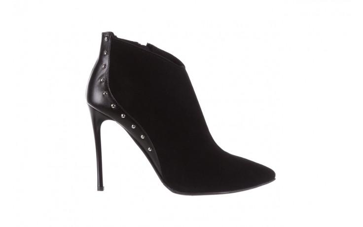 Botki bayla-097 21 botki czarne, skóra naturalna - na szpilce - botki - buty damskie - kobieta