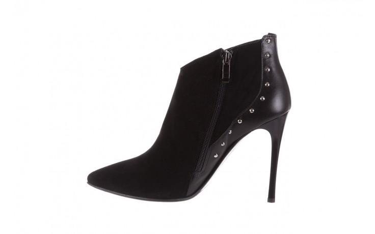 Botki bayla-097 21 botki czarne, skóra naturalna - na szpilce - botki - buty damskie - kobieta 2