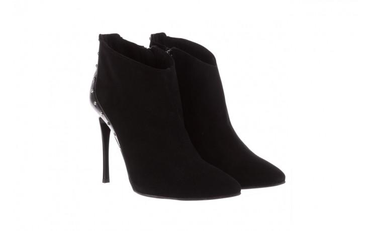 Botki bayla-097 21 botki czarne, skóra naturalna - na szpilce - botki - buty damskie - kobieta 1