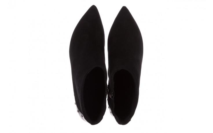 Botki bayla-097 21 botki czarne, skóra naturalna - na szpilce - botki - buty damskie - kobieta 4