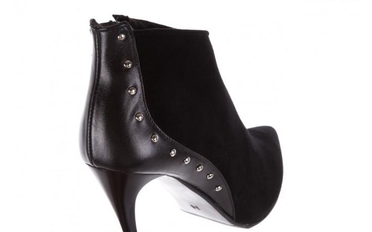 Botki bayla-097 21 botki czarne, skóra naturalna - na szpilce - botki - buty damskie - kobieta 5