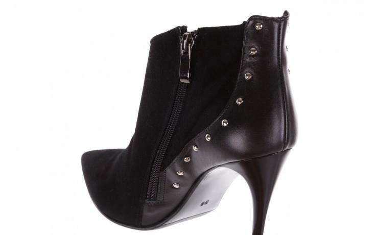 Botki bayla-097 21 botki czarne, skóra naturalna - na szpilce - botki - buty damskie - kobieta 6