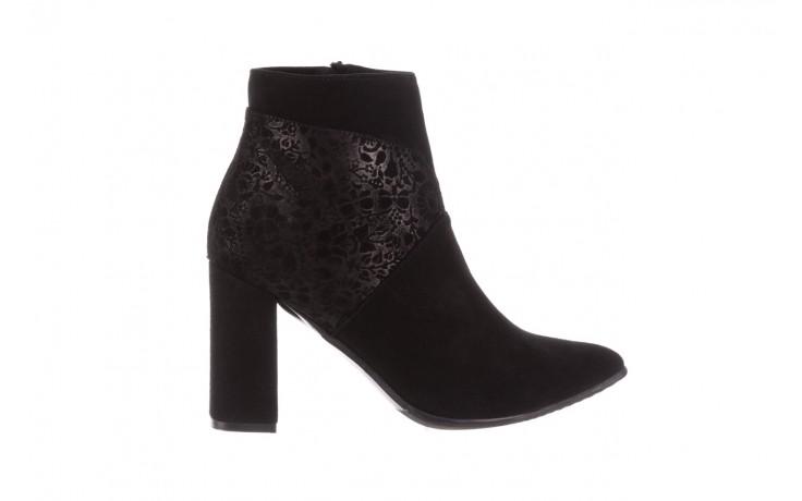 Botki bayla-097 19 botki czarne, skóra naturalna - zamszowe - botki - buty damskie - kobieta