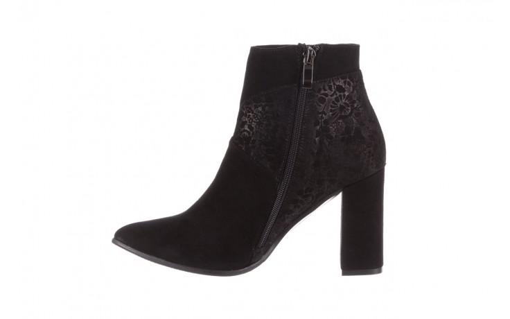 Botki bayla-097 19 botki czarne, skóra naturalna - zamszowe - botki - buty damskie - kobieta 2