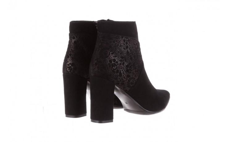 Botki bayla-097 19 botki czarne, skóra naturalna - zamszowe - botki - buty damskie - kobieta 3