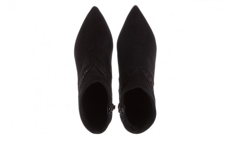Botki bayla-097 19 botki czarne, skóra naturalna - zamszowe - botki - buty damskie - kobieta 4