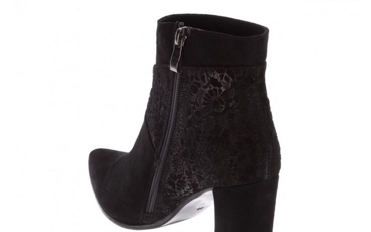 Botki bayla-097 19 botki czarne, skóra naturalna - zamszowe - botki - buty damskie - kobieta 7