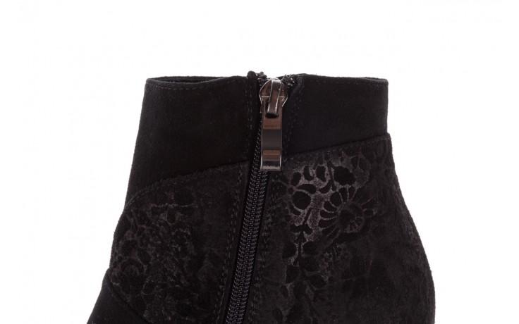 Botki bayla-097 19 botki czarne, skóra naturalna - zamszowe - botki - buty damskie - kobieta 6