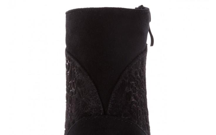Botki bayla-097 19 botki czarne, skóra naturalna - zamszowe - botki - buty damskie - kobieta 8