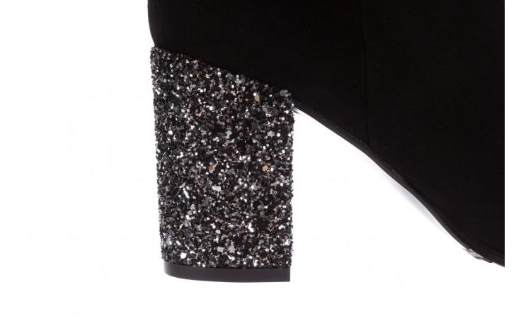 Botki bayla-056 1971-21 czarne botki glitter obcas, skóra naturalna - glitter shine - trendy - kobieta 8