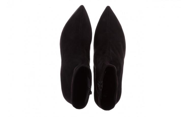 Botki bayla-056 9068-730 czarne botki zamsz stretch, materiał - bayla - nasze marki 4