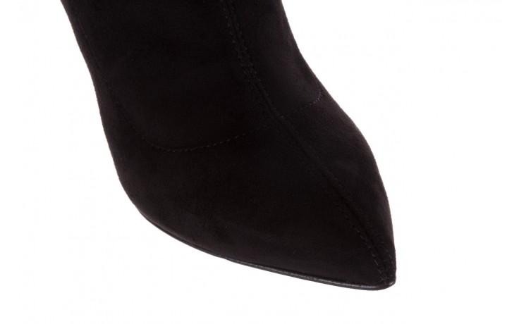 Botki bayla-056 9068-730 czarne botki zamsz stretch, materiał - bayla - nasze marki 6