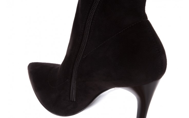 Botki bayla-056 9068-730 czarne botki zamsz stretch, materiał - bayla - nasze marki 7