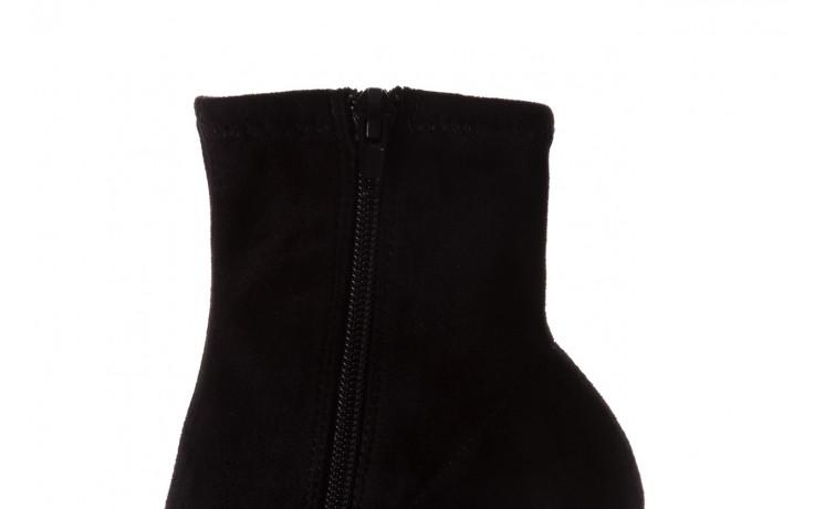 Botki bayla-056 9068-730 czarne botki zamsz stretch, materiał - bayla - nasze marki 8