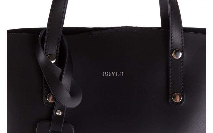 Torebka bayla-180 czarna torebka ze skóry loren - akcesoria - kobieta 4